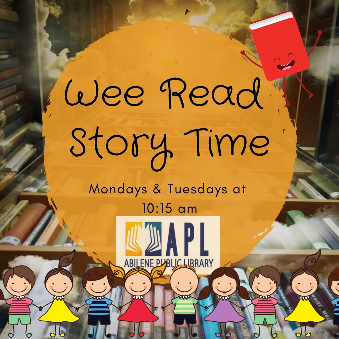 Wee Read Story Time Mondays & Tuesdays at 10:15 am